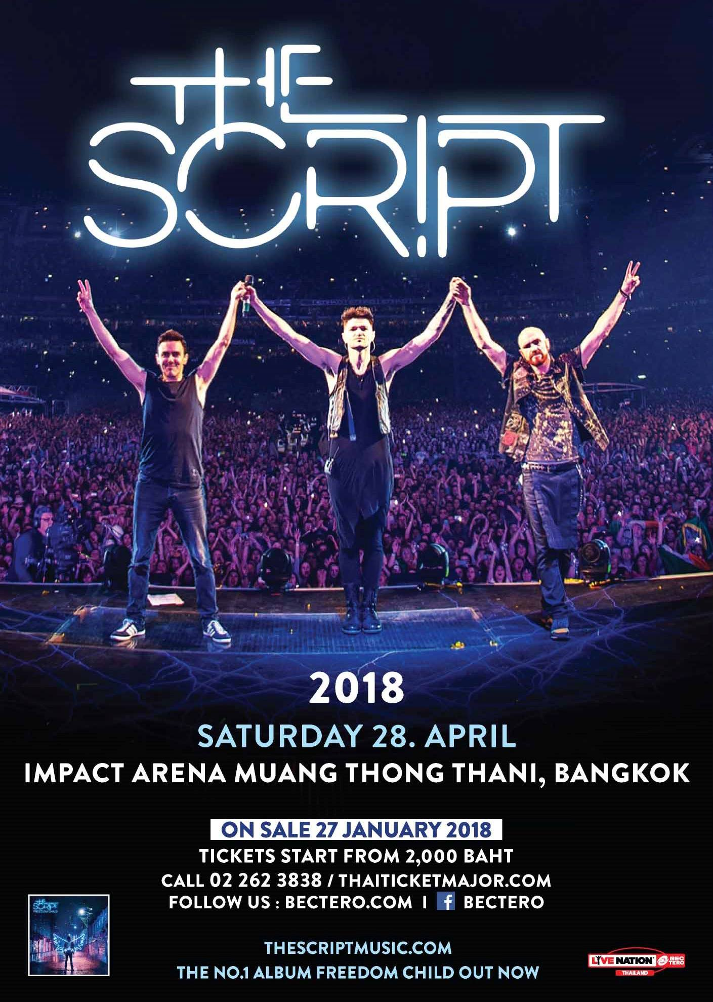The Script Freedom Child Tour Live in Bangkok