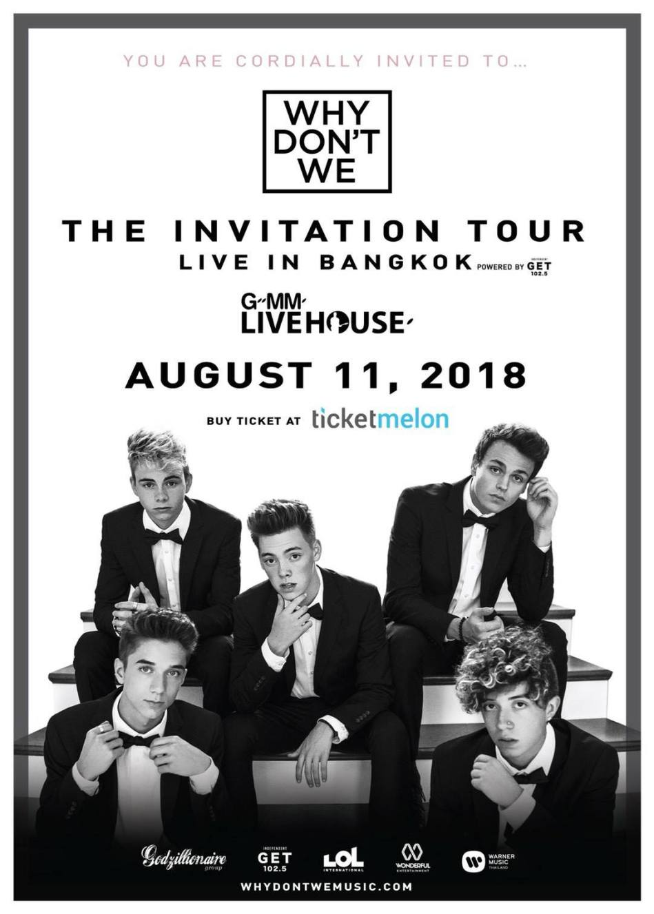 Why Don't We The Invitation Tour Live in Bangkok 2018
