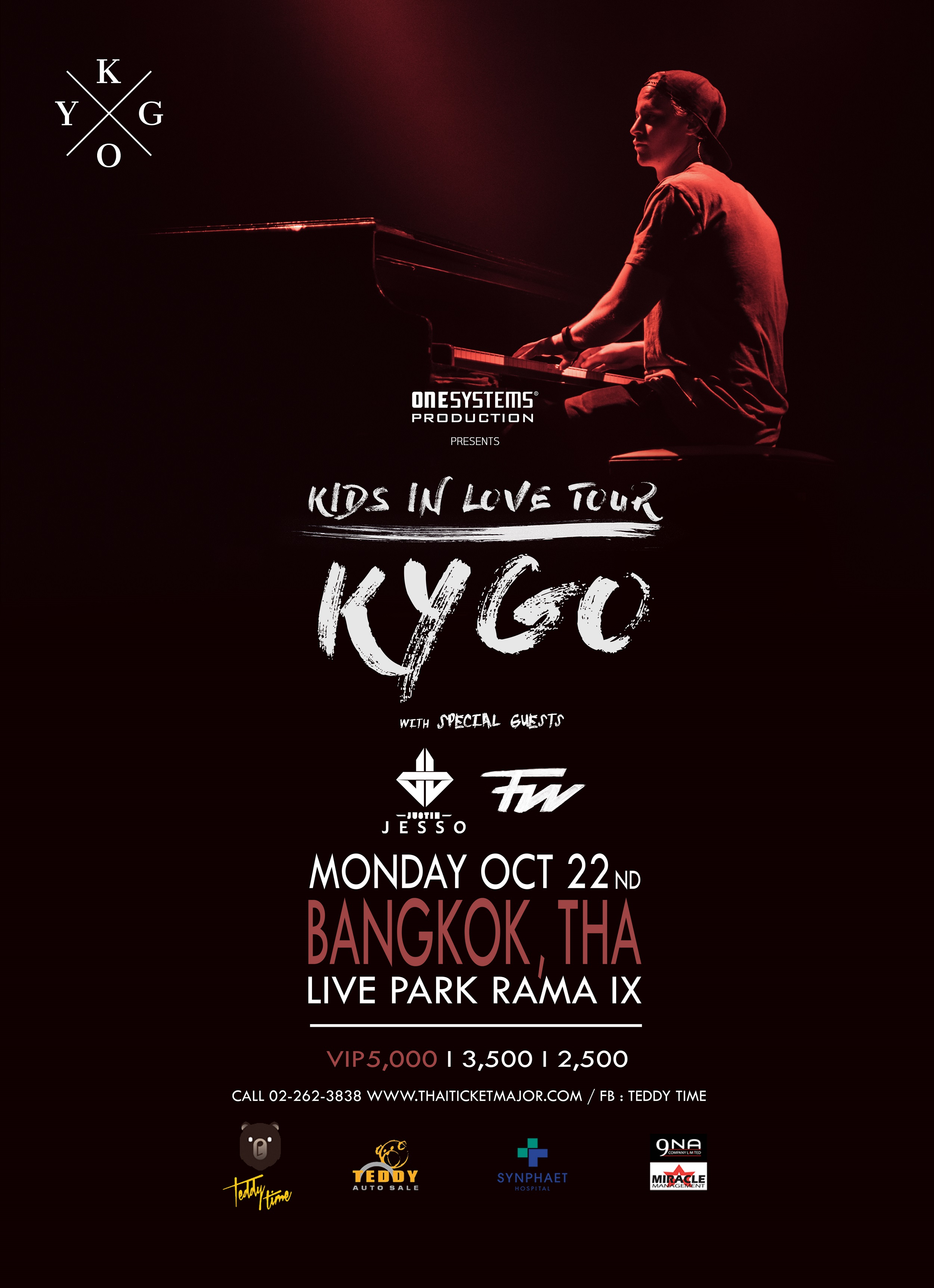 One Systems Presents Kygo Kids In Love Tour Live In Bangkok
