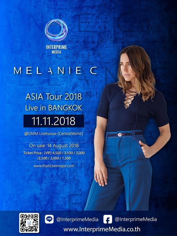 MELANIE C Asia Tour 2018 : Live in Bangkok