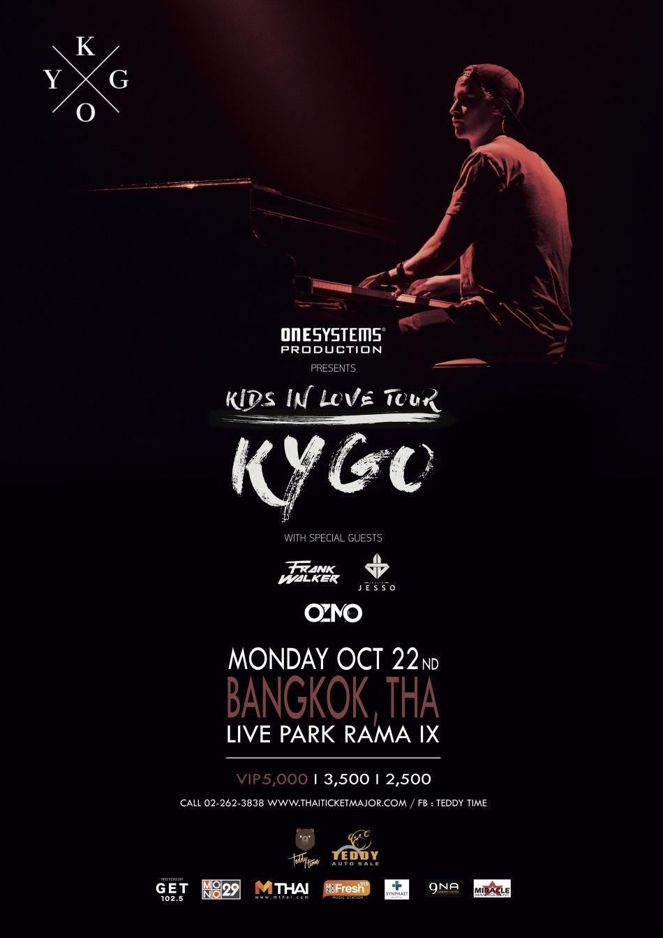 "23. Poster Concert ""One Systems Production Presents Kygo Kids In Love Tour"""
